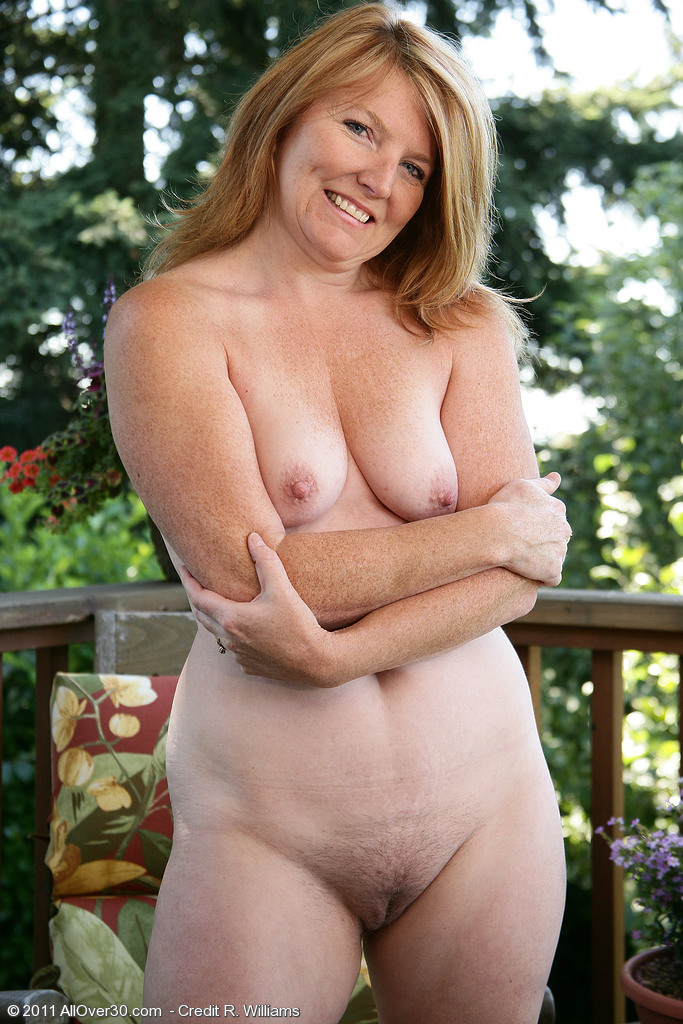 Older women naked outside theme