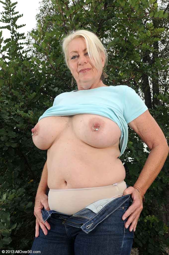 Old mature with milf