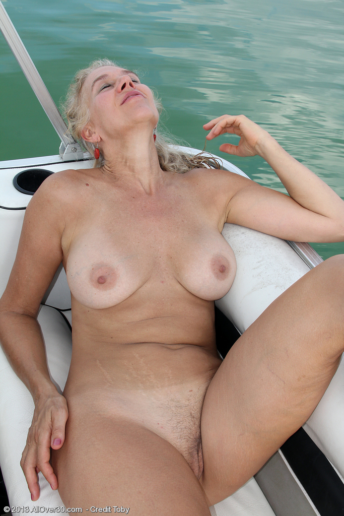 nude pussy on old boat